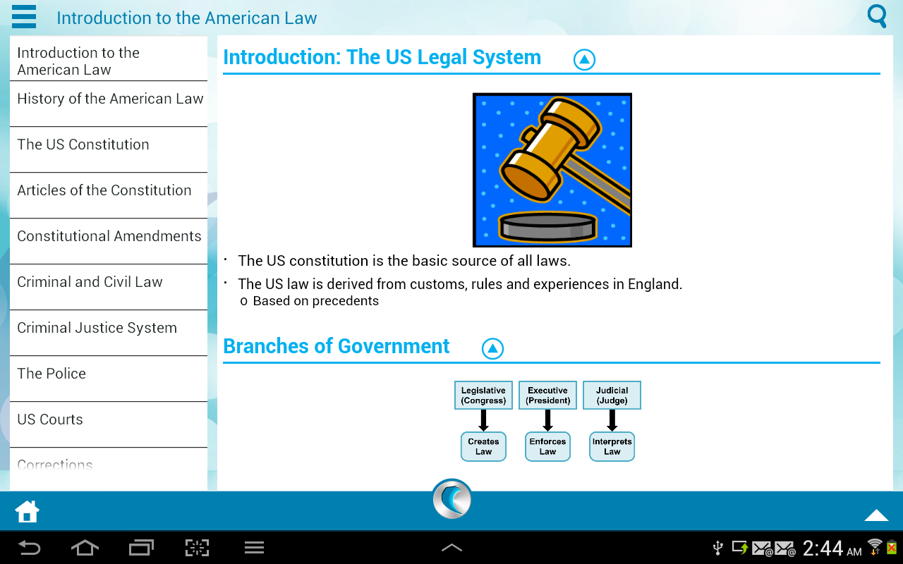 US Law by WAGmob - screenshot