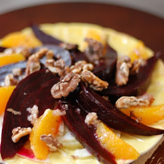 Beets with (Fennel, Orange, and Walnut)^2.