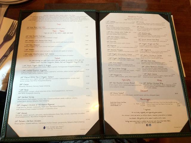 The GF menu