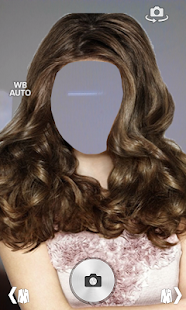 Woman hair style photo montage screenshot