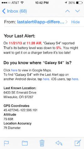 Last Alert Pro Find Your Phone Screenshot