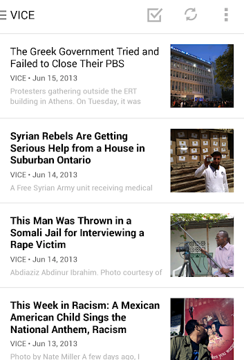 Screenshot 2 for Digg's Android app'