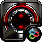Red Magnet GO Launcher theme
