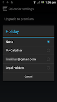 Screenshot of Calendar for SmartWatch 2