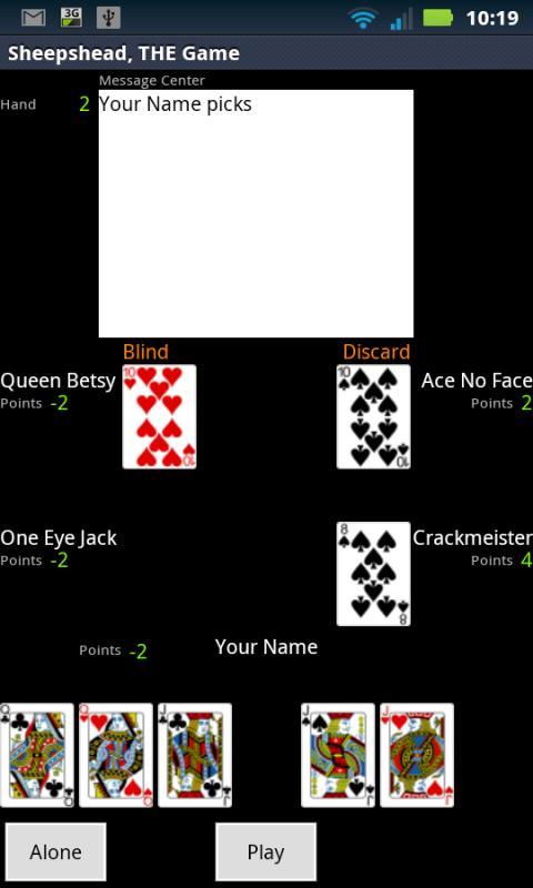 Sheepshead, THE Game- screenshot