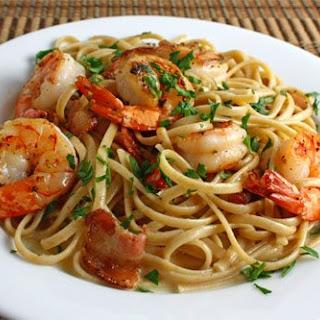 Shrimp Carbonara.