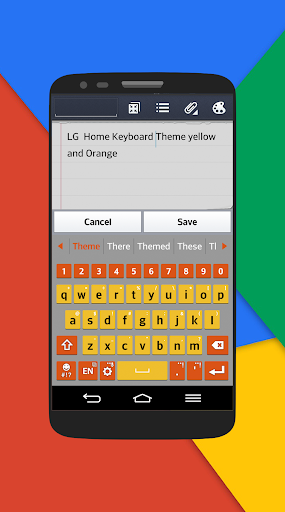 Org-Red Keyboard LG theme