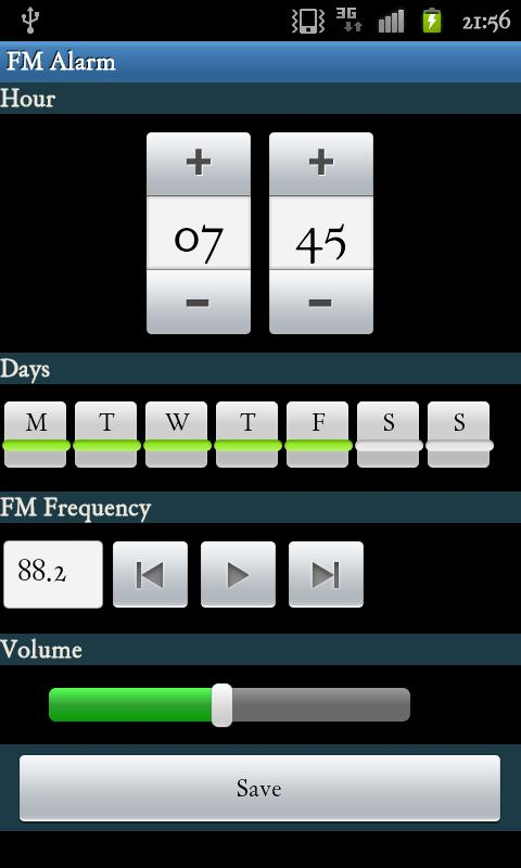 alarm clock fm radio android apps on google play. Black Bedroom Furniture Sets. Home Design Ideas
