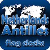 Netherland Antilles flag clocs