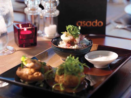 Cunard-Queen-Elizabeth-Asado-Restaurant - You'll find Asado, a restaurant serving South American cuisine, aboard Queen Elizabeth.