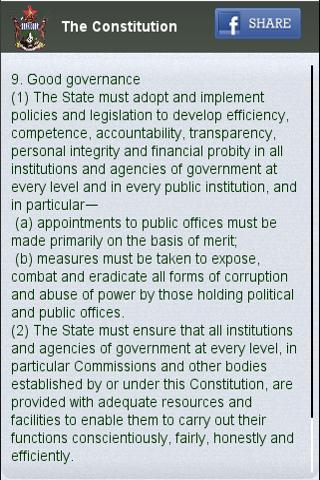 Zimbabwe Constitution- screenshot