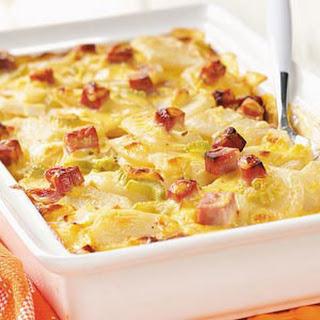 Ham and Creamy Potato Scallops