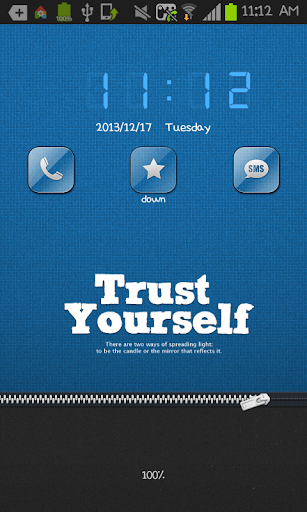 Trust Yourself Go Locker theme