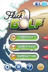 لعبة الغولف Flick Golf لهواتف الاندرويد والسامسونج