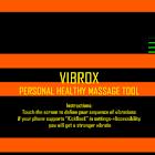 Vibrox: vibrating massage tool icon