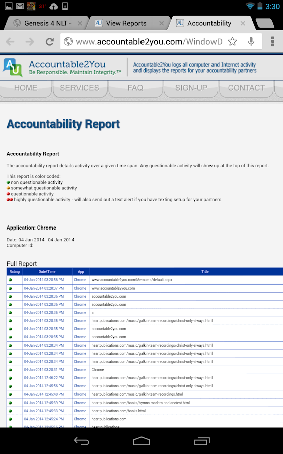 Accountable2You - screenshot