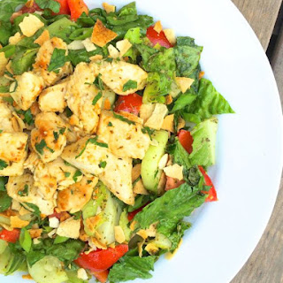 Chicken Tawook Fattoush Salad Recipe