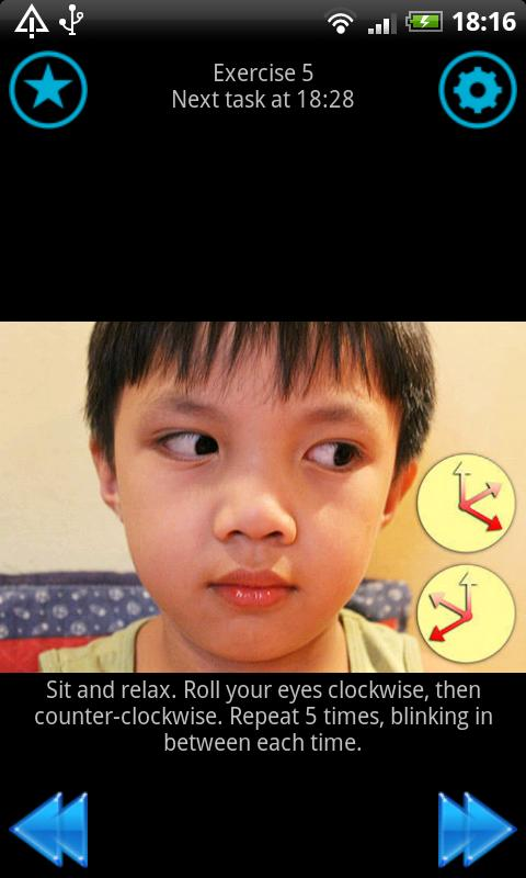 Eye training - Eye exercises - screenshot