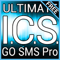 Blue ICS GO SMS Theme icon