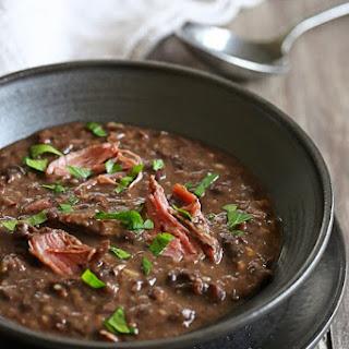 Pressure Cooker Smoked Turkey Black Bean Soup