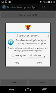 Disable Auto Update Apps - screenshot thumbnail