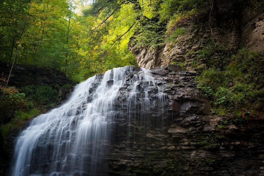 Tiffany Falls by Jack Brittain - Landscapes Waterscapes ( water, canada, falls, ontario, hamilton, tiffany,  )