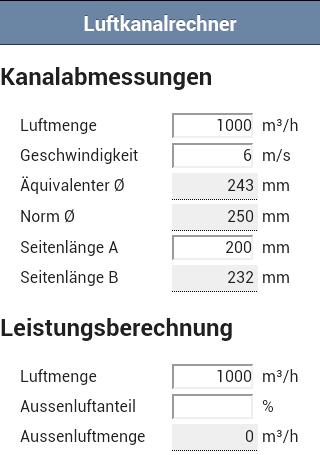Luftkanalrechner