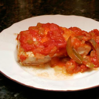 Baked Halibut Creole