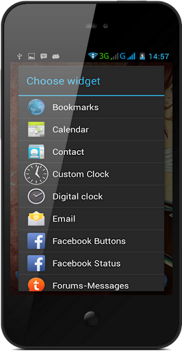 Clock Widget Customize