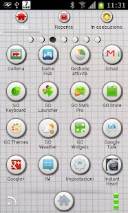 Squared GO Launcher EX Theme - screenshot thumbnail