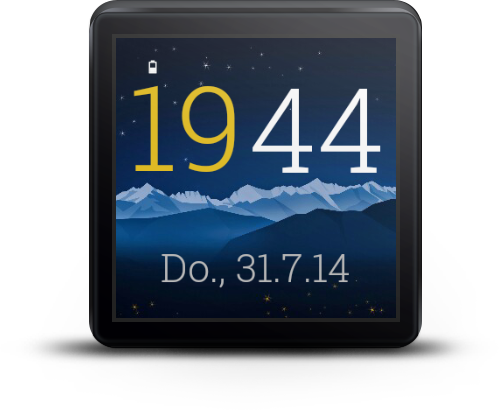 Yeah Clock for Android Wear