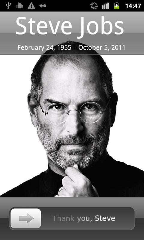 SteveJobs - MagicLockerTheme - screenshot