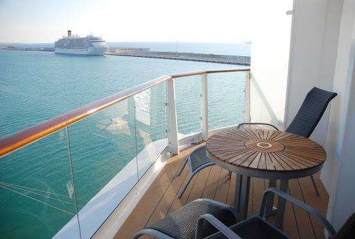 Celebrity-Equinox-Sky-Suite-balcony - A view of the balcony in Sky Suite 1198 aboard Celebrity Equinox.