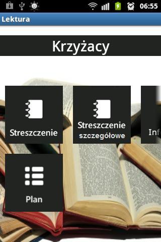 Streszczenia Lektur- screenshot