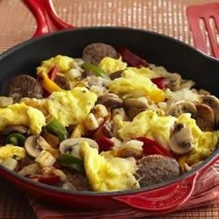 Italian Sausage and Egg Breakfast Skillet.
