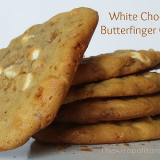 White Chocolate Butterfinger Cookies