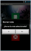Screenshot of Notas seguras