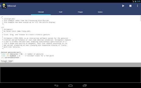APDE - Android Processing IDE screenshot 8
