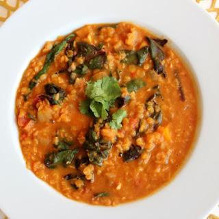Curried Coconut Lentil Soup.
