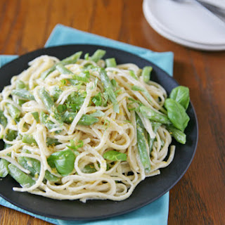 Lemon Basil Pasta with Green Beans
