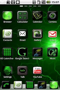 Green Blade Theme GO Launcher - screenshot thumbnail