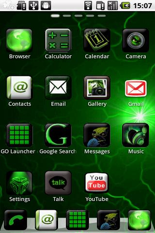 Green Blade Theme GO Launcher - screenshot
