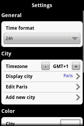 Globetimer World Clock 2.3 - screenshot