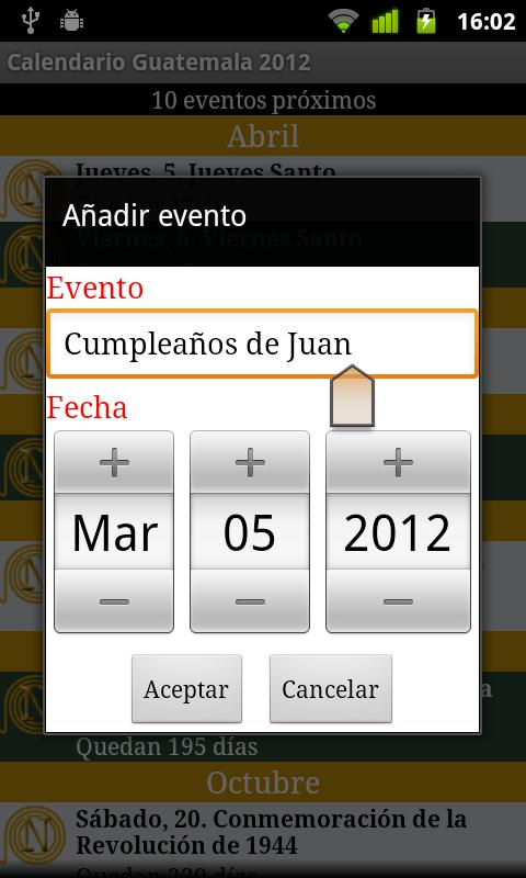 Calendario Feriados Guatemala - screenshot