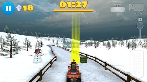 4x4のオフロード 冬のゲームATV