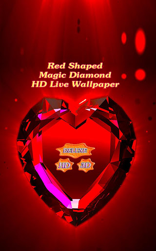 Red Shaped Magic Diamond Heart