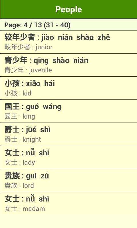 Mandarin Vocabulary (Album 2) - screenshot