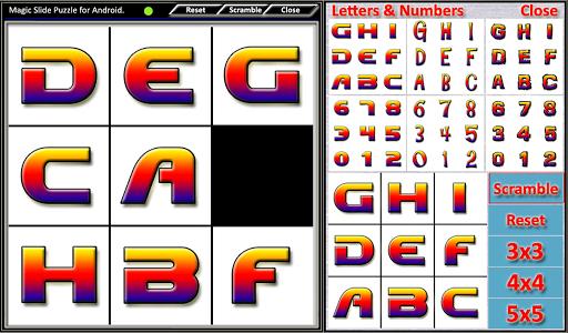 Magic Slide Puzzle Letters