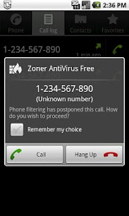 Zoner AntiVirus Free – Miniaturansicht des Screenshots