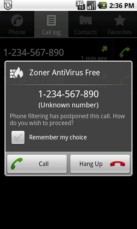 Zoner AntiVirus Free - screenshot